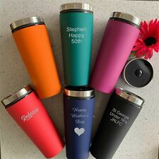 Custom Engraved Personalised Travel Mug Thermal Flask Coffee Cup