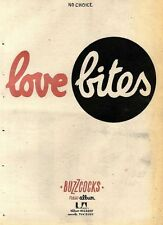 23/9/78PN64 ADVERT: LOVE BITES A ALBUM FROM BUZZCOCKS 15X11