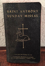 Vintage Saint Anthony Sunday Missal 1956 Bound and Printed in Italy Christian s2