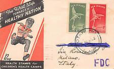 FDC Nuova Zelanda New Zealand 1947 - Health stamps - VG Aukland Milano