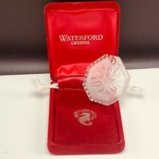 Waterford Crystal glass Christmas ornament Ireland 1988 mistletoe chestnut vtg 3