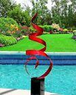 Large Metal Art Sculpture ULTRA MODERN RED Indoor/Outdoor  ORIGINAL Jon Allen