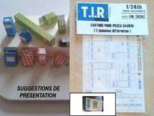 2 PLANCHES DE CARTONS D'EMBALLAGE POUR PIECES SAVIEM, ACCESSOIRES DIORAMA 1/24