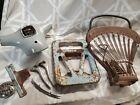 Vespa Allstate Vna Sears Parts Lot Split Headset Seat Original Paint seat choke