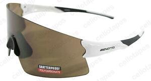BENOTTO White Black Cycling glasses Anti UV protection brown glasses
