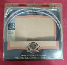 NEW Harley Davidson Braided Throttle / Idle Cables 56611-04