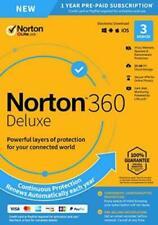 NORTON 360 Deluxe 2020 3 dispositivo 1 año 3 PC MAC Internet Security 2020