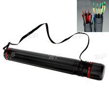 3 Tube  Archery Arrow Quiver Holder Back Waist Shoulder Strap Bag Pouch R1L4