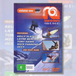 RA Boardriders Volume 1 DVD Kelly Slater Tony Hawk Layne Beachley Occy | NEW