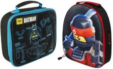Boys Lego Batman / Ninjago Lunch Bag Insulated School Snack Box Superhero Bag