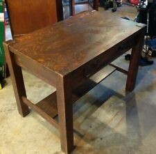 Arts & Crafts Mission Oak Antique Craftsman Library Table, Writing Desk #32237