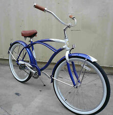 "Micargi 26"" Tahiti Men Aluminum beach cruiser bicycle bike Blue"