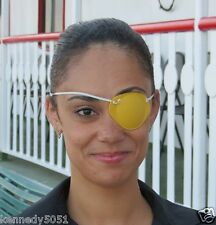 World's Best Eye Patch - ADULT GOLD,LASTS FOR YEARS , replaceable elastic