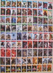 Cartes vignettes Star Wars Leclerc 2019 à l/'unité stickers autocollant 1€ les 2