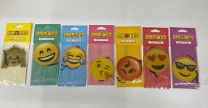 CAR AIR FRESHNERS EMOJI FACE SMILEY FACY FRUITY SCENT NOVELTY XMAS GIFT