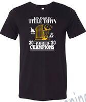 New 2020 Los angeles dodgers lakers World Champions Shirt trophy  XS-4XL T-shirt