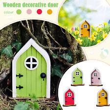 Miniature Gnome Home Window And Door For Trees Yard Art Garden Sculpture Decor