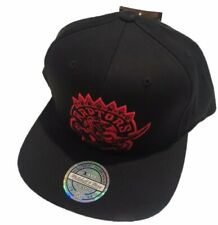 Toronto Raptors Flex Fit Primary Red Logo Basketball Mitchell Ness Snapback Hat