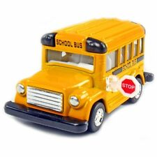 Superior Short School Bus Diecast Model pull back and go action 4 inch