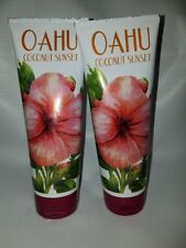 Bath and Body Works Oahu Coconut Sunset 2 Tubes 8 fl oz NEW