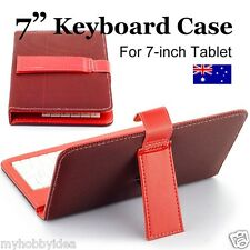 "7"" Keypad Keyboard Leather Case 4 Android Tablet PC ALDI  KMART ONIX Pendo"
