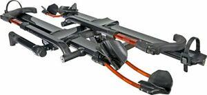 Kuat NV 2.0 2-Bike Tray Hitch Rack: Metallic Gray and Orange 1 1/4 Receiver