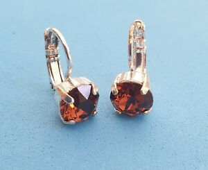 Leverback earrings made with Swarovski Crystal Elements