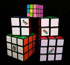 Lot of 5 Rubik's Brain Teaser Puzzle Cubes 3x3x3 and 2x2x2