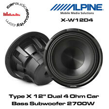 "Alpine X-W12D4 - Tipo X 12"" DUAL 4 OHM PER AUTO SUBWOOFER BASS 2700 W SUBWOOFER BASS"