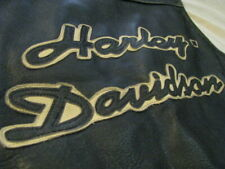 Harley Davidson Motorcycle Vest Brown Distressed Heavy Leather Biker Men L