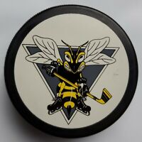 SARNIA STING OFFICIAL VINTAGE OHL HOCKEY PUCK VEGUM MFG. MADE IN SLOVAKIA
