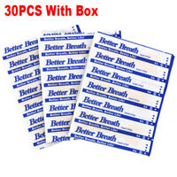 30pcs Breath Right Stop Snoring Nasal Strips Sleep Aid Nose Patch Anti-Snoring