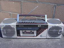 Sanyo M7735 AM FM Stereo Radio Cassette 6 Speaker Made In Japan NICE LOOK