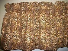 Cheetah Skin Print Jungle Animal Wildlife fabric curtain topper Valance