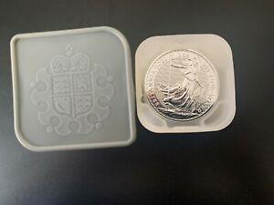 25 x 1oz 2021 Silver Britannia Full Tube .999 Silver Coins #5
