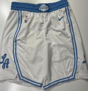 Los Angeles Lakers Nike Swingman Lore Series City Edition Shorts Size Medium 34