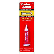 ABRO THREADLOCK 6ml-LOCK AND SEAL-RED PERMANENT HIGH STRENGTH Similar to Loctite