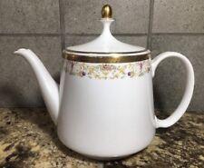 Royal Hartford China Argentina Tea Pot w Lid Floral w Gold Trim