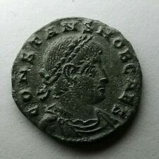 Constans Caesar 333-337 AE NUMMUS RARE Ancient Authentic Roman coin