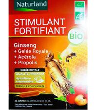 ♡♡ NATURLANO ♡♡ Stimulant Fortifiant BIO - 20 ampoules - Gelée Royale