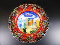 Las Vegas Nevada New York Hotel Souvenir Plate Plate 25 CM, Ceramic Plate ,(2)