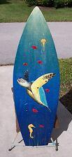 Sea Turtle Seahorse Surfboard Wall Art Hand p 00006000 ainted original nautical sea life