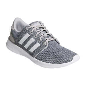 adidas Ladies' QT Racer Cloudfoam Lightweight Lace Up Running Sneakers, Gray