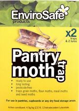ENVIROSAFE Pantry Moth Trap & Lure (x2) | Lasts 3 Months NATURAL PESTICIDE FREE