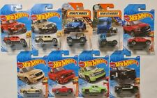 HOT WHEELS MATCHBOX SET OF 9 TRUCKS UTES + TREASURE HUNT CHEVY FORD JEEP DODGE