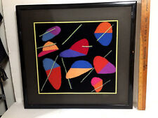 Danish Modern Abstract Framed Art Graphique Expo Piece - Signed: R.Young er