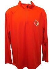 New Louisville Cardinals Mens Sizes M-L-XL-2XL Red Long Sleeve 1/4 Zip Shirt
