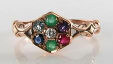 LUSH 9CT 9K ROSE GOLD DEAREST ART DECO INS RING FREE RESIZE