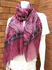 PAUL SMITH PINK PAISLEY PRINT LARGE COTTON SCARF WRAP SARONG MADE IN ITALY