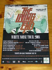 THE LIVING END - WHITE NOISE 2008 Australian Tour - Laminated Promotional Poster